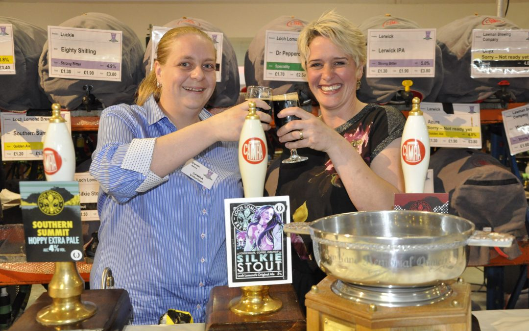 Glasses raised to Loch Lomond's Silkie Stout, the Champion Beer of Scotland